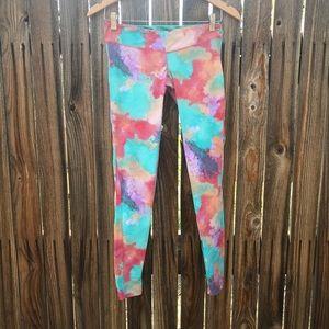 Fun watercolor workout pants